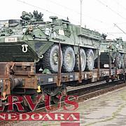 un tren cu transportoare blindate americane va ajunge la constanta