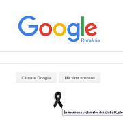 google romania comemoreaza victimele din clubul colectiv printr-o funda de doliu