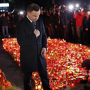 presedintele poloniei la locul tragediei de la colectiv