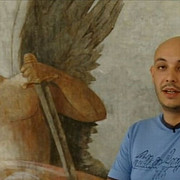 picturi vechi acoperite cu vopsea descoperite intr-o sala de judecata din romania