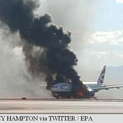 un avion british airways a luat foc pe aeroportul din las vegas doi raniti usor