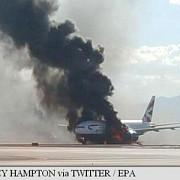 un avion british airways a luat foc pe aeroportul din las vegas doi raniti usor