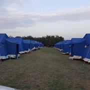 au aparut primele corturi pentru refugiati in romania