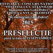 au fost desemnati finalistii celei de a xvi-a editie a festivalului castanilor in memoriam gabi dobre