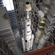 un pas mic spre marte nasa a asamblat rezervorul gigantic al celei mai puternice rachete