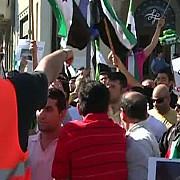 sirienii din romania protesteaza la bucuresti