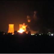 video incendiu puternic la un depozit aflat pe platforma oltchim