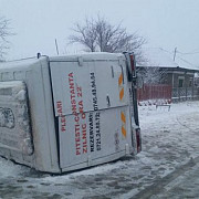 un microbuz cu 15 elevi s-a rasturnat a fost activat planul rosu de interventie