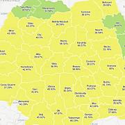 cele 37 de localitati din romania cu prezenta de peste 100 recordul este de 172