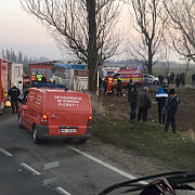un autobuz de pe ruta ploiesti-fulga a fost implicat intr-un accident un calator a decedat