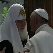 intalnire istorica intre patriarhul chiril si papa francisc