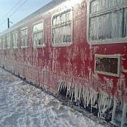 cfr 14 trenuri au fost anulate din cauza gerului