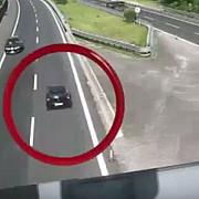 video atentie cretin la volan un individ cu cetatenie romana a circulat 15 km pe contrasens pe autostrada