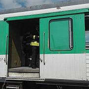locomotiva unui tren privat a luat foc pe ruta bistrita-cluj