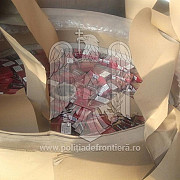 sute de mii de pachete de tigari de contrabanda ascunse in role de hartie descoperite de politistii de frontiera din giurgiu