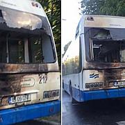 un autobuz a luat foc la iasi