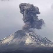 vulcanul popocatepetl a erupt