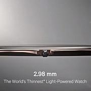 cel mai subtire ceas din lume se incarca de la lumina