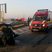accidente in lant pe a2 - 17 autoturisme implicate