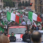 proteste de amploare in italia