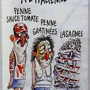 idiotii de la charlie hebdo au prezentat victimele cutremurului din italia ca varietati de paste