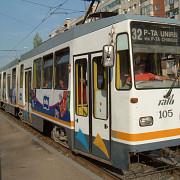 doi talhari au batut un barbat care incerca sa-si apere sotia in tramvai in centrul bucurestiului
