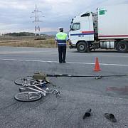 accident grav la homoraciu un biciclist a fost strivit de un tir