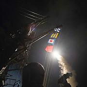 sua ataca o baza a regimului din siria in urma atacului chimic de la khan sheikhoun televiziunea siriana de stat catalogheaza atacurile americane drept o agresiune