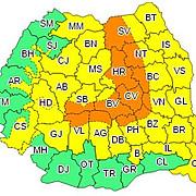 cod portocaliu de ninsori in zona de munte din 15 judete cod galben de ploi si vant in restul tarii