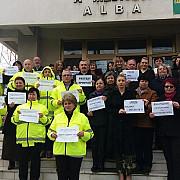 protest al angajatilor agentiilor pentru protectia mediului in bucuresti si in tara nemultumiti de discriminarile salariale