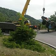 camionul implicat in accidentul cu militari a fost scos din rapa dupa o interventie de 5 ore