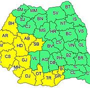 cod galben - valul de caldura se extinde in sudul si in vestul tarii luni si marti