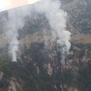 incendiul de padure izbuncit in parcul national domogled stins dupa trei zile de interventie