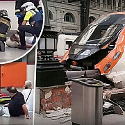 cel putin 48 de raniti intr-un accident feroviar la barcelona mae printre raniti se afla si un roman