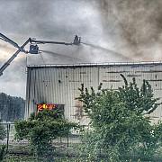 incendiul declansat la un depozit cu arhive din ilfov declarat stins dupa zece zile de la izbucnire