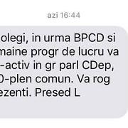 dragnea le-a trimis sms si deputatilor opozitiei cu programul parlamentului de duminica stimati colegi va rog sa fiti prezenti