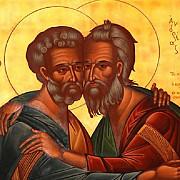 crestinii ii sarbatoresc joi pe sfintii petru si pavel