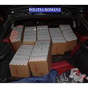 resita peste 90000 de tigarete de contrabanda si doua autoturisme confiscate de politisti