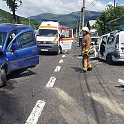 accident grav pe dn1 la comarnic trei masini implicate foto- video