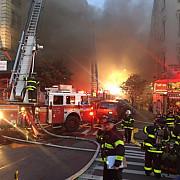 peste 200 de pompieri mobilizati sa stinga un incendiu puternic la new york