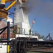incendiu la un remorcher al agentiei romane de salvare de vieti omenesti pe mare aflat in portul constanta
