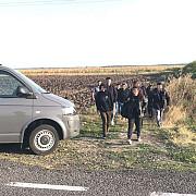 opt irakieni opriti la frontiera cu ungaria cand incercau sa iasa ilegal din romania unde solicitasera azil