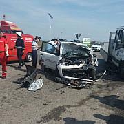 patru masini implicate intr-un accident pe centura de vest a ploiestiului fotovideo