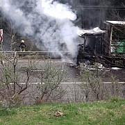 incendiu la un tir incarcat cu 22 de tone de azotat de amoniu in pasul tihuta