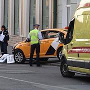 un taxi a intrat in multime la moscova - opt persoane au necesitat ingrijiri medicale