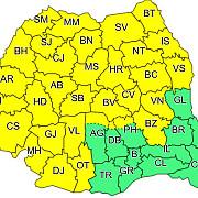 cod galben valabil pentru 31 de judete din romania