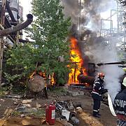 incendiu la fosta rafinarie astra video