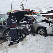 accident rutier la baza podului de la tatarani foto