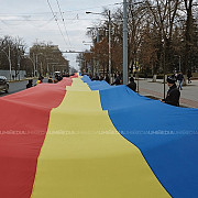 manifestatie dedicata implinirii a 100 de ani de la unirea basarabiei cu romania duminica la chisinau