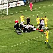 exclusiv la un pas de tragedie pe terenul de fotbal in romania video